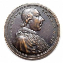 Pius VI. as builder of Prison in Trebia Memorial Medal