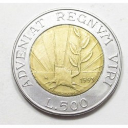500 lire 1993 - Revival of nature