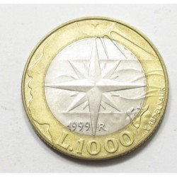 1000 lire 1999 - Wind rose
