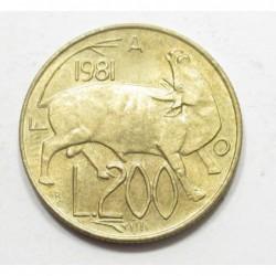 200 lire 1981 - FAO
