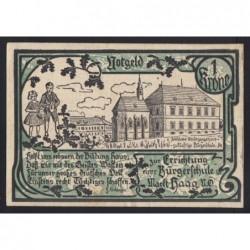 1 krone 1920 - Haag - Téglajegy általános iskola építésére