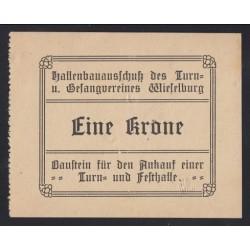 1 krone 1920 - Wieselburg börtönének téglajegye edzõterem és díszterem építésére