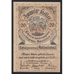 20 heller 1920 - Amstetten / Antisemitenbund