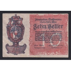 10 heller 1920 - Liechtenstein
