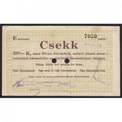 50 korona 1919 - Pápa