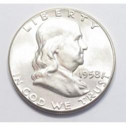 Franklin half dollar 1958