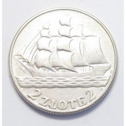 2 zlote 1936 - Gdynia seaport
