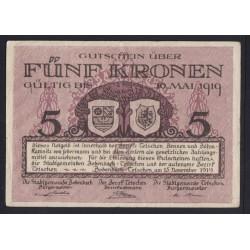 5 kronen 1919 - Tetschen