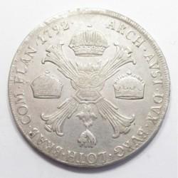 Leopold II. 1 crownthaler 1792 M