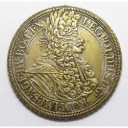 Leopold I. 1 thaler 1695 Vienna - Spielthaler cca. 1800 fny.