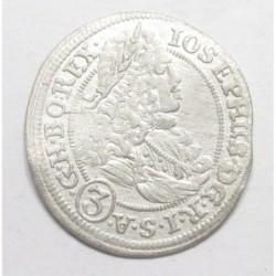 Joseph I. 3 kreuzer 1708 FN - Breslau