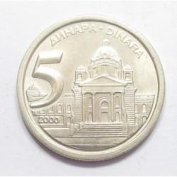 5 dinara 2000