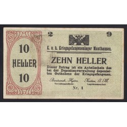10 heller 1915 - Kriegsgefangenenlager Mauthausen