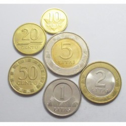Lithuania coin set 1997-2002