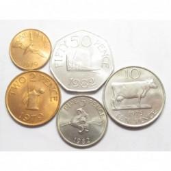 1-2-5-10-20-50 pence 1979-1982