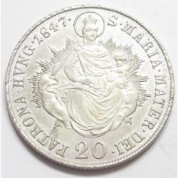 Ferdinand I 20 kreuzer 1847 B
