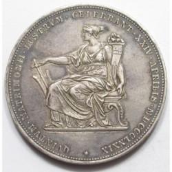 2 gulden 1879 - Silver wedding jubilee