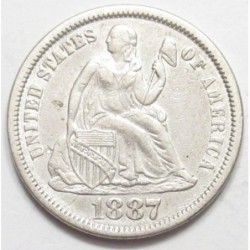 seated liberty dime 1887