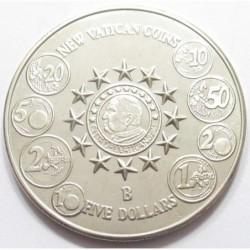 5 dollars 2004 - new Vatican coins