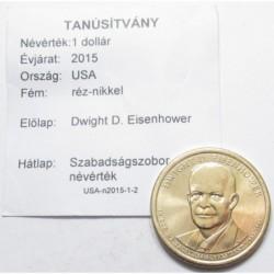 1 dollar 2015 - Dwight D. Eisenhower
