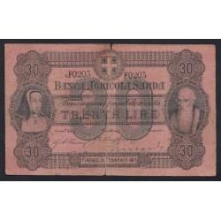 30 lire 1871 - SZARDÍNIAI KIRÁLYSÁG