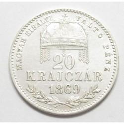 20 krajcár 1869 KB - MKVP