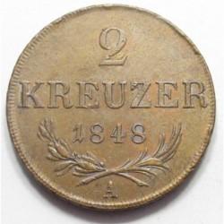 2 krajcár 1848 A