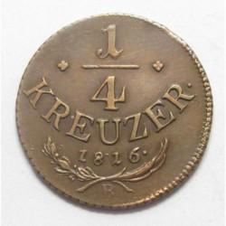 Franz II. 1/4 kreuzer 1816 B