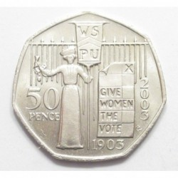 50 pence 2003 - Women rights