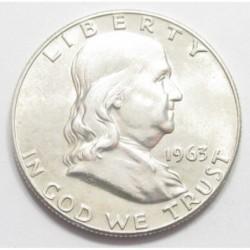 Franklin half dollar 1963 D