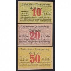 10-20-50 heller 1920 - Buchdruckerei Herzogenburg - Értékjelzés bélyegzés