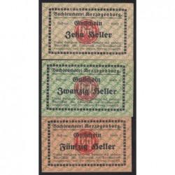 10-20-50 heller 1920 - Buchdruckerei Herzogenburg - BGH bélyegzés 2. széria