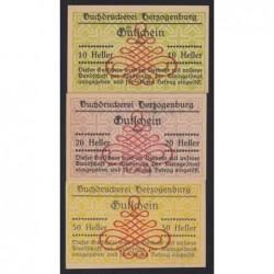 10-20-50 heller 1920 - Buchdruckerei Herzogenburg - Motívum bélyegzés