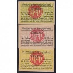 10-20-50 heller 1920 - Buchdruckerei Herzogenburg - BGH pecsét 1. széria