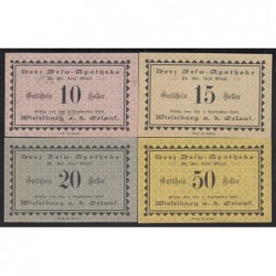 10-15-20-50 heller 1920 - Wieselburg - Szent Szív Gyógyszertár