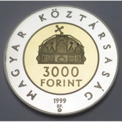 3000 forint 1999 PP - 1000th Anniversary of the Hungarian Kingdom