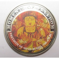 10 dollars 2001 PP - Moments of freedom - Freedom of mind Budha 560-479 BC