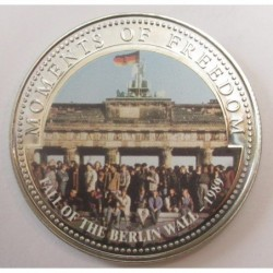 10 dollars 2001 PP - Moments of freedom - Fall of Berlin wall 1989