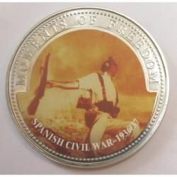 10 dollars 2001 PP - Moments of freedom - Spanish civil war 1936/37