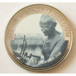 10 dollars 2001 PP - Moments of freedom - Gandhi's life 1869-1948