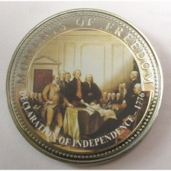 10 dollars 2001 PP - Moments of freedom - Declaration of independence 1776