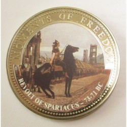 10 dollars 2001 PP - Moments of freedom - Revolt of Spartacus 71-73 BC