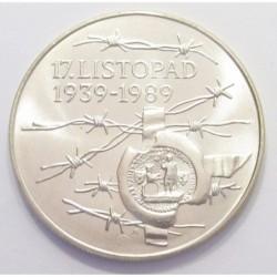 100 korun 1989 - Establishment of the Czech National Committee