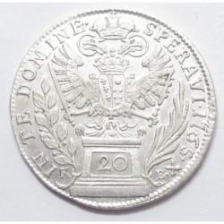 Francis I. 20 kreuzer 1765 KB