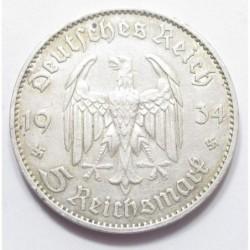 5 reichsmark 1934 F