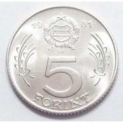 5 forint 1981