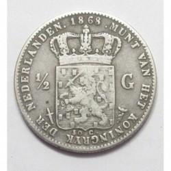 1/2 gulden 1868