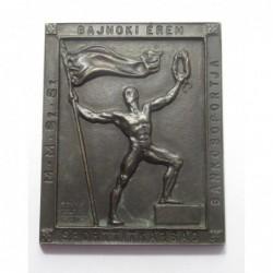 Edvi Illés György: M.M.SZ.SZ. - Banking Group - Championship Medal - Sports Secretariat Award Plaque 1948