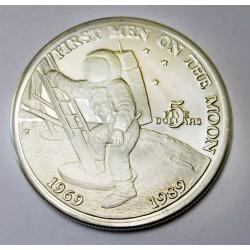 5 dollars 1989 PP - First man on tha Moon