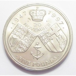 5 pounds 1997 - 50th wedding anniversary of Queen Elizabeth II and Prince Philip